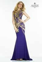 Alyce Paris Claudine - 2538 Dress in Cobalt Gold
