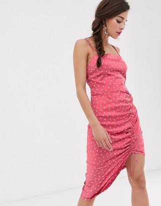 Finders Keepers Emilia midi slip dress-Pink