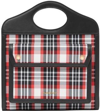 Burberry Mini Tartan Tote Bag