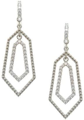 Judith Ripka Sterling & Diamonique Geometric Dangle Earrings