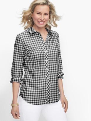 Talbots Classic Cotton Shirt - Fancy Gingham