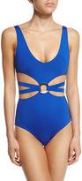 Proenza Schouler Cutout One-Piece Swimsuit w/Center Ring