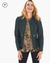 Chico's Chic Faux-Leather Jacket