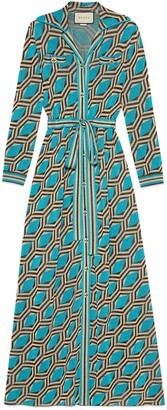 Gucci Lame geometric jacquard shirt dress