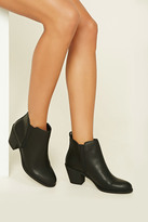Forever 21 FOREVER 21+ Faux Leather Booties