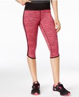 Material Girl Active Juniors' Space-Dyed Cropped Leggings, Created for Macy's