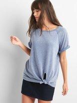 Gap Short sleeve tie-front sweatshirt