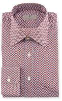 Canali Chevron Cotton Dress Shirt