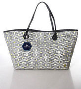 Jonathan Adler Duchess Medium Grey Honeycomb Tote Handbag New With Tags