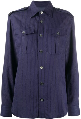 Zadig & Voltaire Taska pinstripe shirt