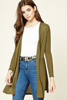 Forever 21 FOREVER 21+ Ribbed Open-Front Cardigan
