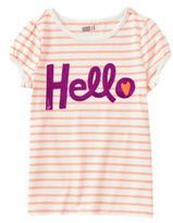 Crazy 8 Hello Stripe Tee