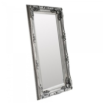 Gda Carved French Leaner Mirror Antique Silver