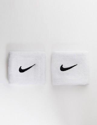 Nike Training Swoosh Wristbands In White