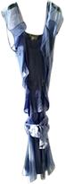 Saint Laurent Blue Silk Dress