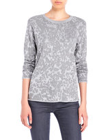 Vince Camuto Crew Neck Jacquard Sweater