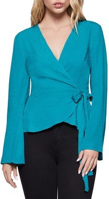 BCBGeneration Bell Sleeve Wrap Top