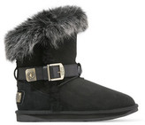 Australia Luxe Collective Tsar Short Buckled Shearling Ankle Boots