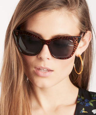 Sole Society Women's Ary In Color: Leopard Tortoise Over Cat Eye Sunglasses One Size PLASTIC From