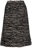 Simone Rocha Metallic Tweed Midi Skirt - Black