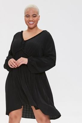 Forever 21 Plus Size Ruffled Knee-Length Dress