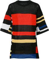 Proenza Schouler color block panel top - women - Cotton/Polyester/Viscose - XS