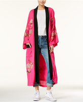 Free People Cotton Floral-Embroidered Kimono