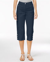 Karen Scott Button-Hem Capri Pants, Only at Macy's