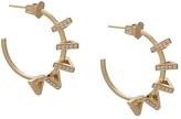 Azlee Circuit Diamond Hoop Earrings