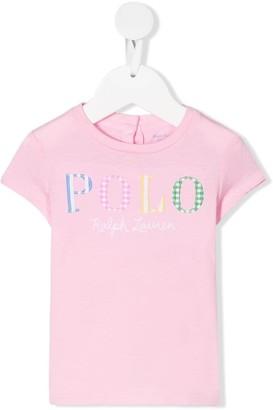 Ralph Lauren Kids logo-embroidered crew neck T-shirt