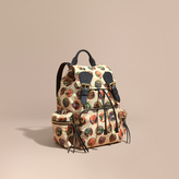 Burberry The Medium Rucksack in Technical Nylon with Pallas Heads Print