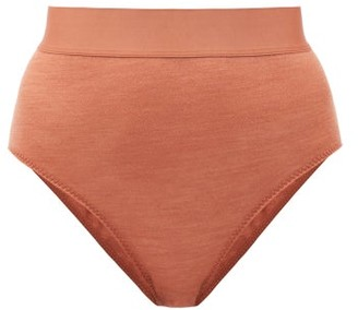 About - Pinkles High-rise Lyocell And Wool-blend Briefs - Light Brown