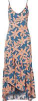 Vix Margarita Elma Printed Voile Maxi Dress - Coral