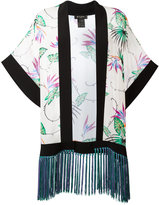 Etro printed fringed trim jacket - women - Silk/Acetate - S