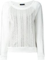Twin-Set studded sweatshirt