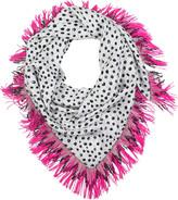 Pacman Polka Dot silk scarf