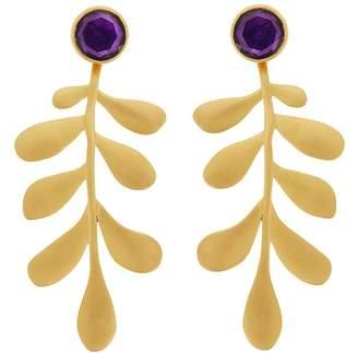 Ileana Makri EYE M by Purple Hydro Garden Leaf Drop Earrings