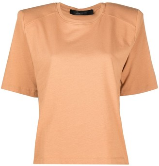 FEDERICA TOSI padded-shoulder cropped T-shirt