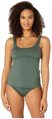 Nike Essential Scoop Neck Tankini (Galactic Jade) Women's Swimwear