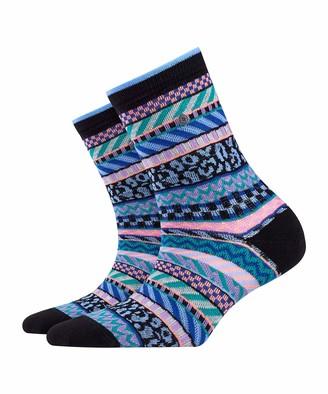 Burlington Women's Summer Fair Isle Calf Socks