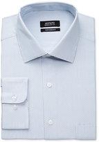 Alfani Men's Big & Tall Performance Light Blue Mallard Dobby Dress Shirt, Only at Macy's