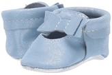 Freshly Picked Blue Gem Ballet Flat Bow Mocc (Infant/Toddler) (Blue/Chrome) Girl's Shoes
