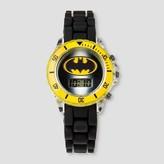 Boys' Batman Flashing LCD Watch - Black/Yellow One Size