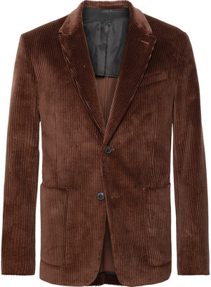 Ami Brown Cotton-Corduroy Suit Jacket