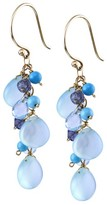 14KY Multi Color Briolette Drop Earrings