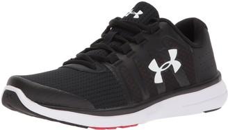 Under Armour Boys' Grade School Micro G Fuel 2 Sneaker Black (001)/White 4.5 M US