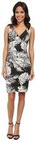 Nicole Miller Krista Palm Batik Cotton Metal Dress