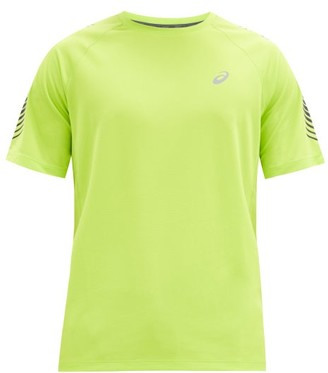 Asics Icon Reflective-logo Jersey T-shirt - Green