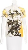 Christopher Kane Silk Floral Print Blouse
