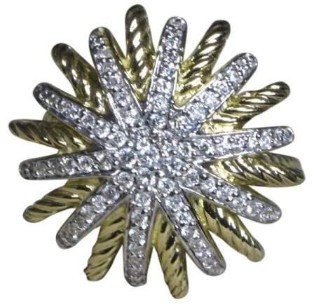 David Yurman Starburst 18K Yellow Gold with 0.45 ct Diamond Ring Size 6